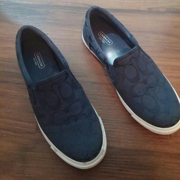 51af4f4d2e9 ... wholesale navy blue coach slip on shoes 7.5 50f76 9b1f2