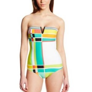 Trina Turk color block bathing suit one piece