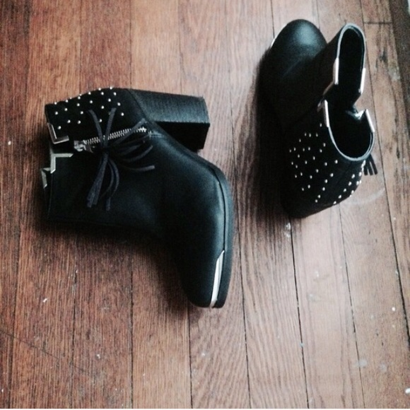 d71bf5edf Nasty Gal Shoes | Mtng Fullu Aquila Studded Ankle Boot | Poshmark