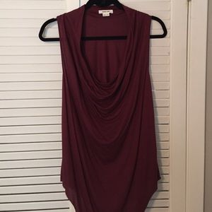 Helmut Lang burgundy top size P