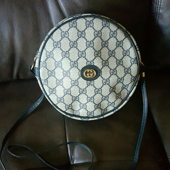 Gucci Bags Vintage 1980s Gg Logo Round Canteen Bag