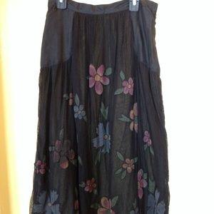 Anthropologie Tulle & Silk Floral Skirt 🌸