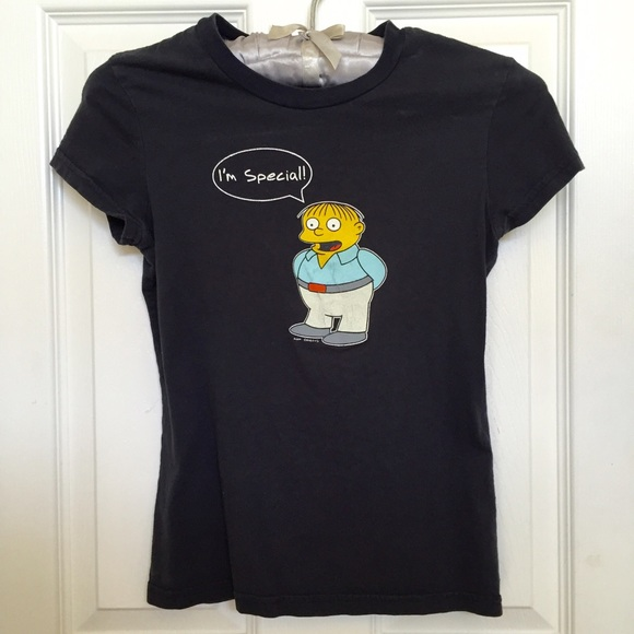 9260596f Tops | The Simpsons Ralph Im Special Black Tee | Poshmark
