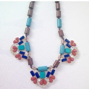 Jewelry - Glam Statement Necklace Set Teal