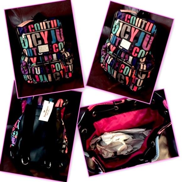 e0ada5d27923 Juicy Couture Max-Multi Logo Backpack!