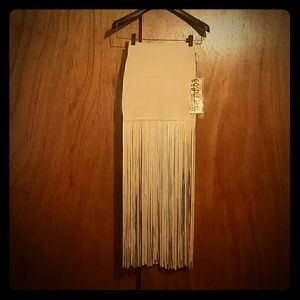 WOW couture Dresses & Skirts - WoW Couture Bodycon Fringe Skirt NWT - SMALL