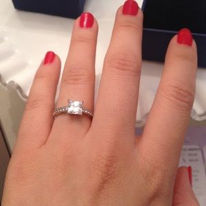 Swarovski Jewelry - Swarovski attract square ring 80c453239b