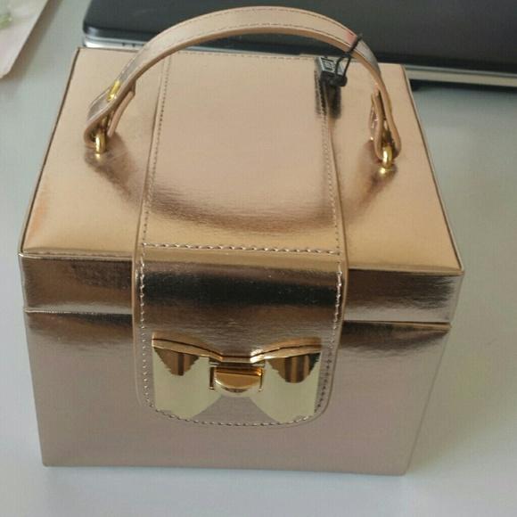 Rose Gold Jewelry Box Storage NWT