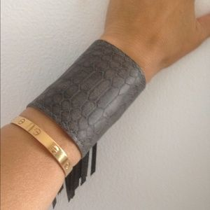 Heather Gardner Jewelry - Heather Gardner Grey Snakeskin Leather Cuff