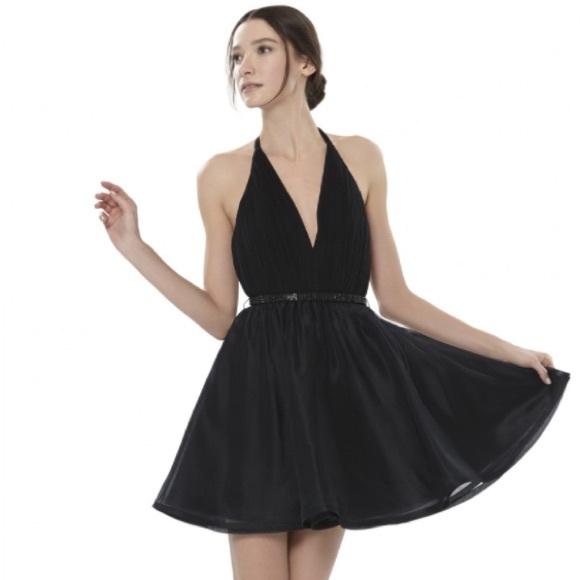 Alice Olivia Dresses Alice Olivia Brooke Halter Black Dress
