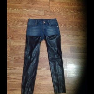 Black and denim jeans new with tags.