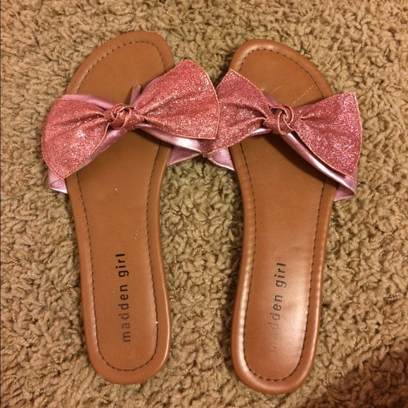 Madden Girl Shoes   Pink Sparkly Bow