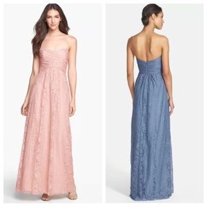 BRAND NEW Amsale Pink Lace Dress