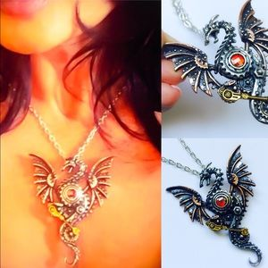Alchemy Jewelry - One Dragon Swarovski Crystal Handcrafted Pendant