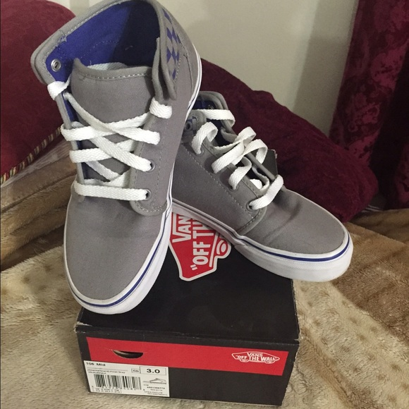 Mid high top frost gray vans size kids 3. M 56060eca2de51255d200257f cd0162b45bd7