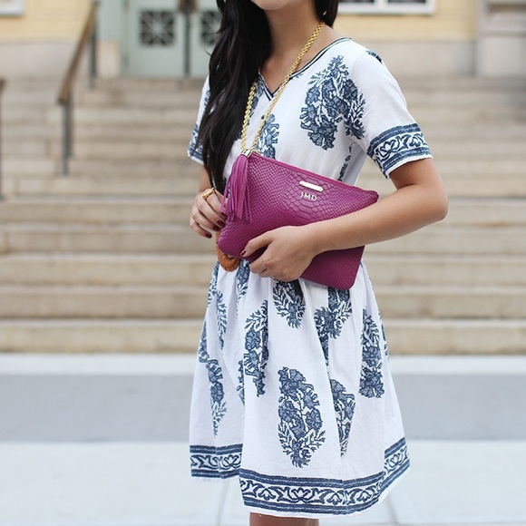 Chicwish Dresses - FINAL MARKDOWN: Navy and White Floral Dress