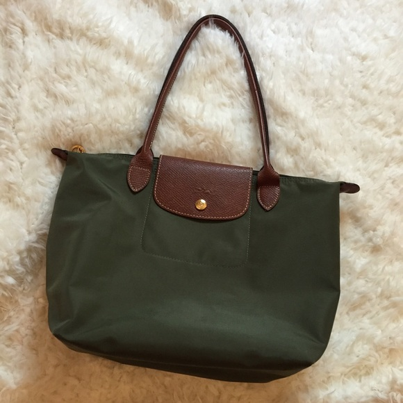 52% off Longchamp Handbags - Longchamp Medium Le Pliage Forest ...