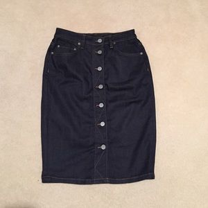 All saints jean skirt
