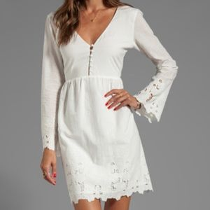 Dolce vita jilisa sunflower lace dress white xs