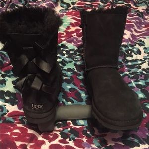 Womens Bailey Bow Black Uggs
