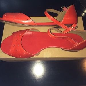 Madewell red Mary Jane flat