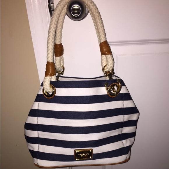 c5977c9882d58c Michael Kors Marina Navy/White Stripe Canvas bag. M_56068e08ea3f3687650000d8