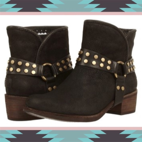 586e927c3f6 New In Box Ugg Darling Harness Black Suede Boot 5 NWT