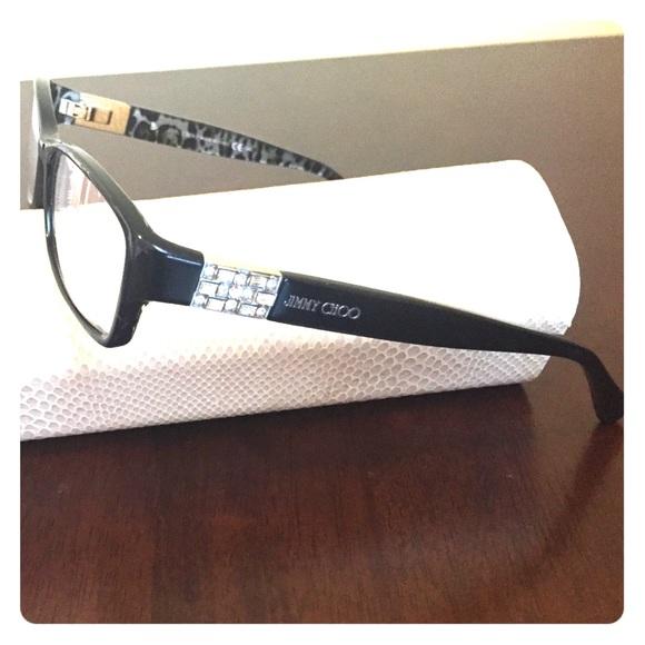 4626b54eb4ff Jimmy Choo Accessories - Jimmy Choo black frame Swarovski Crystal glasses
