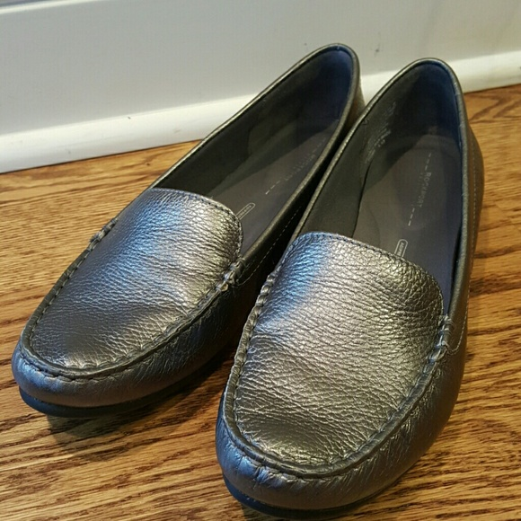 Rockport pewter color Driving Shoes