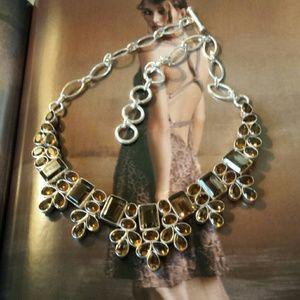Jewelry - Smoky Topaz Quartz Bib Necklace