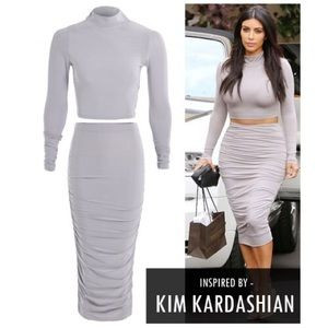Other - Grey Kim K Two Piece