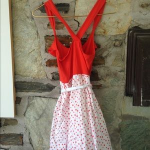 Abercrombie & Fitch Dresses - A+F orange ruffle dress w/ polka dots. Sz m