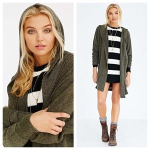 bdg slouchy hooded cardigan S