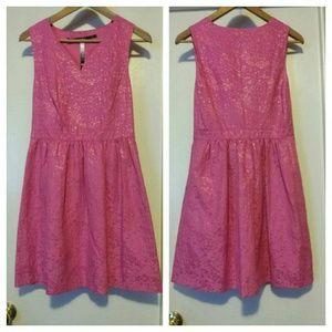 Kensie Wild Metallic Pink Dress