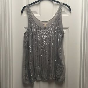 J. Crew Sequin Drizzle Tank in Size 10