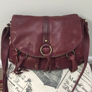 Lucky Brand large leather crossbody