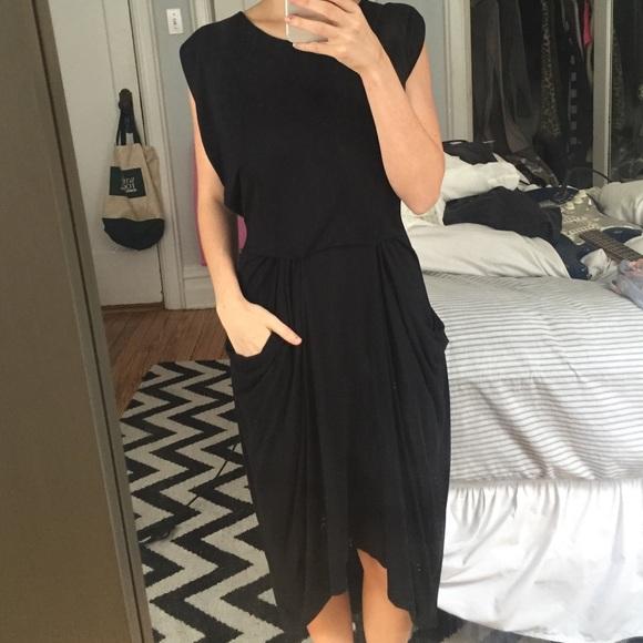All Saints Dresses Black Grecian Pocket Dress Poshmark