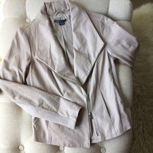 Vince Beige Tan Leather Coat