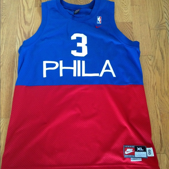 brand new d8f57 6f981 Authentic Nike Allen Iverson Throwback Jersey (XL)