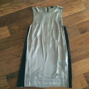 EDUN Dresses & Skirts - Edun Silk dress with black accent stripes