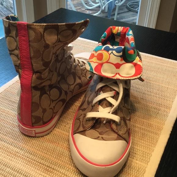 coach converse style shoes