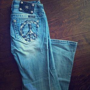 MissMe light mid-rise jeans with flared hem