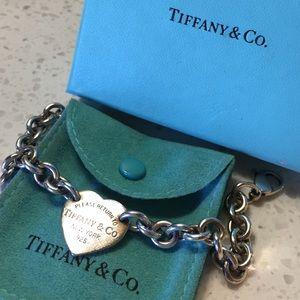 Sterling silver women's Tiffany bracelet.