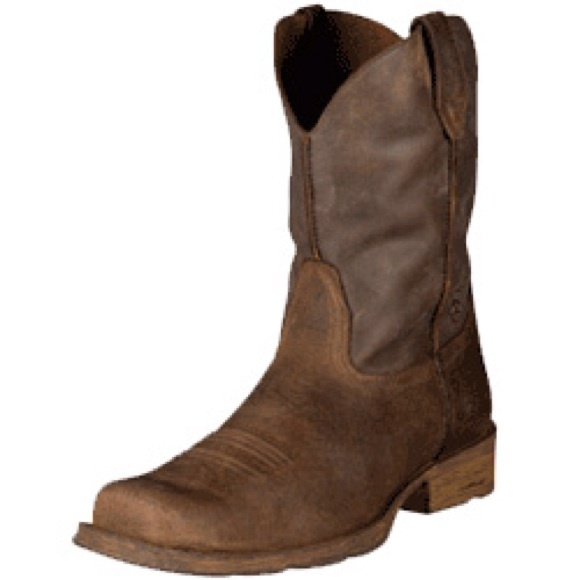69% off Ariat Boots - ARIAT RAMBLER BROWN LEATHER WESTERN ENGINEER ...