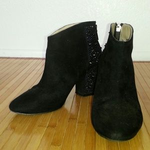 Zara basic black suede ankle boots
