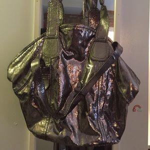 Gustto Handbags - Gustto, silver snake.