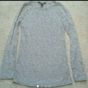 Sheer long sleeve blouse