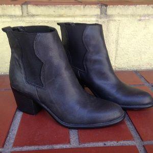 F21 Black Chelsea Boots