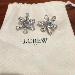 J. Crew Crystal Cluster Statement Earrings