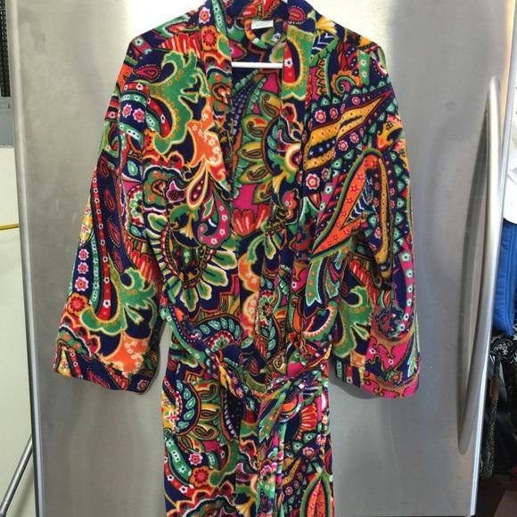 66 Off Vera Bradley Other Vera Bradley Fleece Robe From